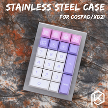 stainless steel bent case for cospad xd24 20% mechanical keyboard custom keyboard acrylic panels acrylic diffuser 50% planck