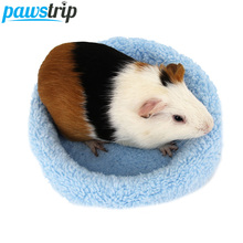 Soft Fleece Guinea Pig Bed Winter Warm Rabbit Hamster Mat Small Animal Cage Bed(China)
