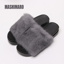 2017 Autumn and Winter New Thick Plush Slippers Casual Female Women Slippers Fur High Quality Soft Plush Lady Furry Slippers