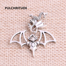 Buy PULCHRITUDE 15sets/lot Zinc Alloy Antique Silver Pendant Bracelet Charm Animal Charm Dog Butterfly Necklace Pendant Set C0013 for $4.03 in AliExpress store