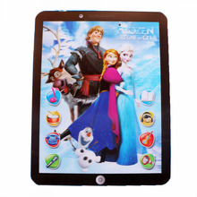 Kids Educational & Learning Toy Pad Tablet Computer Anime Elsa Anna Action Figure Movie Sound Style Baby Toy Gifts 12 functions