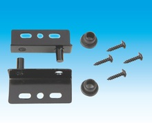 20Pairs/Lot Black Pivot Hinge Hinges with Bushing and Screws Flap Swing Panel Door(China)