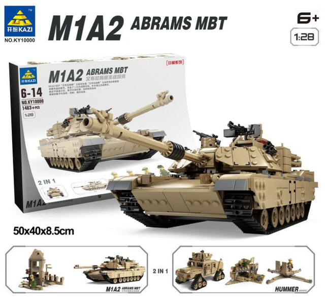 1463pcs Modern military world war 1:28 Abrams MBT M1A2 tank building block model army soliders minifigure compatible with legoes<br><br>Aliexpress