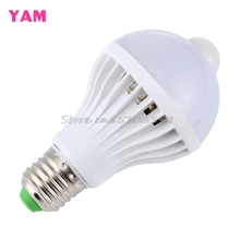 E27 5W/7W/9W LED PIR Motion Sensor Auto Energy Saving Light Lamp Bulb Infrared Works In the Night #G205M# Best Quality