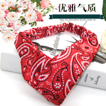 Free shipping women's cool print hairbands girl's thin headwear fantasia bow summer color hair accessories
