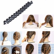 Buy 5pcs Women Lady Hair Braiding Braider Tool Roller Hair Twist Styling Maker Baby Girl Hair Accessories Tool Weave for $3.26 in AliExpress store