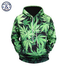 Mr.BaoLong Harajuku Green Leaf Weed Full Print Hoodie Sweatshirt Graphic Men Casual Pullovers 3D Hoodies Couples Clothing