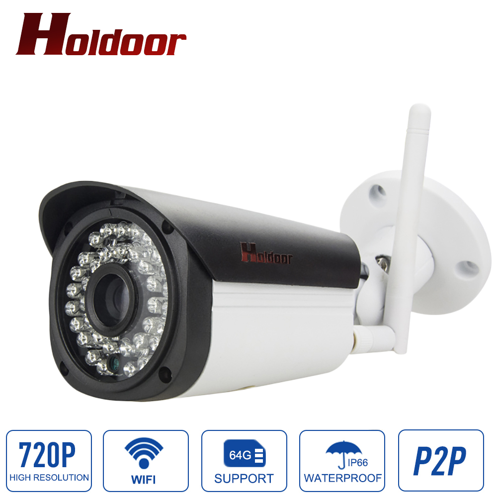 Free shipping 720p 1.0MP hd waterproof infrared home wireless cctv system outdoor onvif 2.0.4 night vision onvif wifi camera<br>