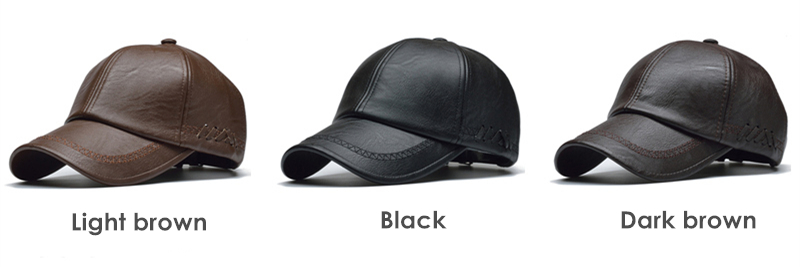 NORTHWOOD  HIGH QUALITY LEATHER CAP FOR MEN SOLID WINTER PU LEATHER  BASEBALL CAPS BRAND SNAPBACK HAT BONE MASCULINO FITTED HATS df312bb59a8d