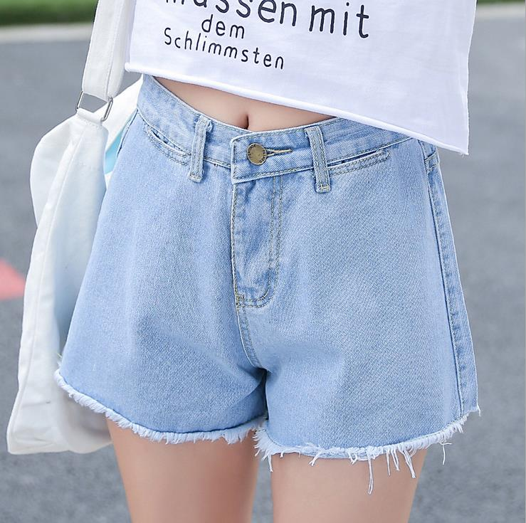 2017 Trend Water color Denim Punk Shorts Female High Waist Shorts Summer Wide Leg Pants Plus Size Casual young girls Short JeansОдежда и ак�е��уары<br><br><br>Aliexpress