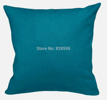 "EA241 - 16"" x 16"" / 40 x 40CM Dark methyl blue Cotton Canvas Cushion Cover/Pillow Case (1pcs) Hongkong Post tracking number"