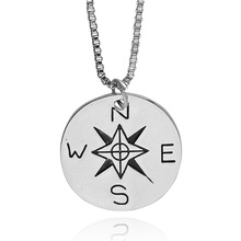 Not All Who Wander Are Lost Compass Necklace Find Your True North And South Direction Necklace Gift for Men Women
