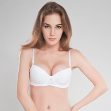 Women's Basic Smooth Balconette Seamless Bra Solid Underwire T-shirt Bra Top Soft White Lingerie 32b 32c 34b 34c 36b 36c 38b38c