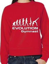 Evolution Of Gymnast Mens Ladies Sweatshirt Jumper Birthday Gift More Size And Colors-E170(China)