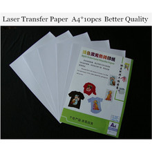 (A4*10pcs) Laser Heat Transfer Paper For Light T shirt Only Cheap Papers a4 Thermal Papel Fabric Toner Transfer Paper TL-150R(China)