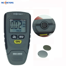 RM660 Digital Paint Coating Thickness Gauge 0-1.25mm Coating Meter Car Thickness Meter Instrument Iron Aluminum Base Metal