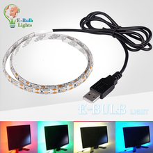 Buy DC 5V USB Cable LED strip light 2835 SMD3528 Flexible led Stripe Christmas decorative Car bicycle TV Background indoor lights for $1.91 in AliExpress store