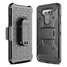 Case for LG V20 PC + Silicone Heavy Duty Military Anti Shock Protection Belt Clip Strap Armor Cover For LG V 20