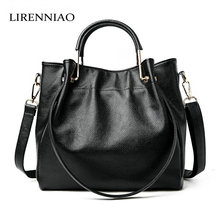 LIRENNIAO Fashion Leather Bags Women Handbags Luxury Brand real leather bag ladies Women Messenger Bags Shoulder