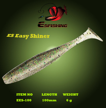 "ES Easy shiner 4"" New 2017 6pcs 10cm/6g Esfishing Soft Lure Fishing Lure Soft Silicone Baits Carp Wobblers For Fishing Tackle(China)"