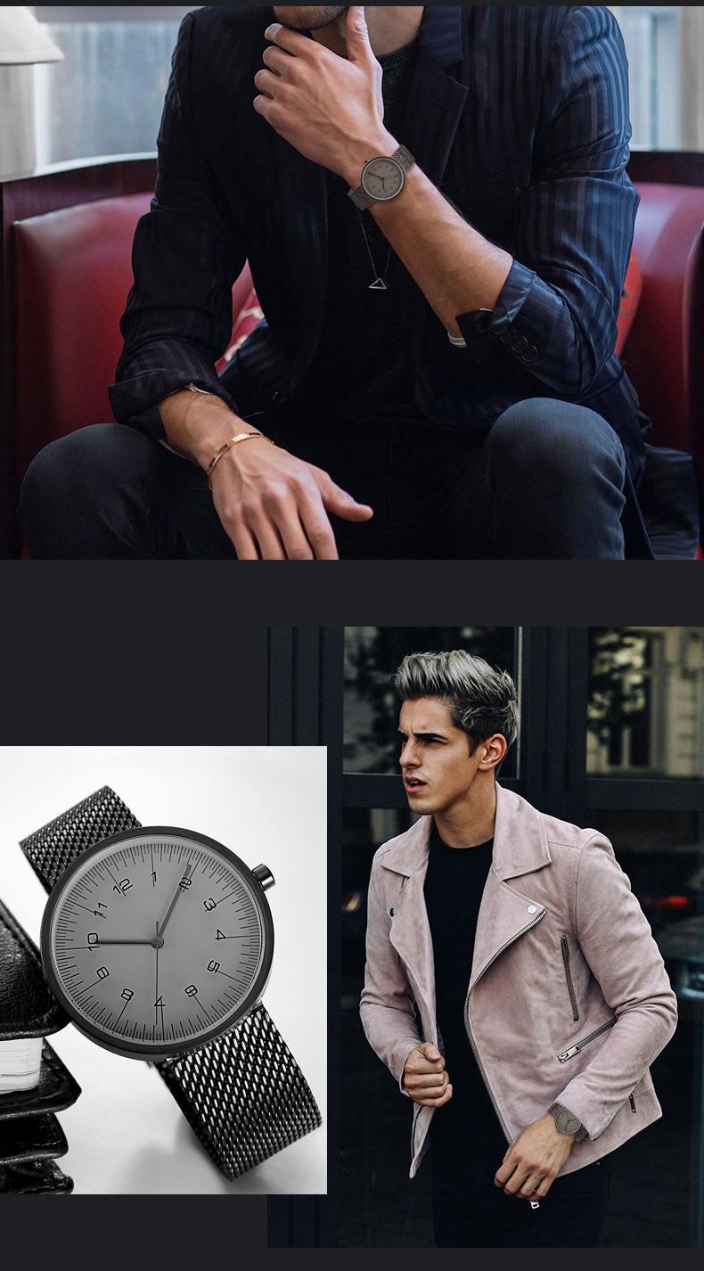 2017 Fashion Trends Watch Men Luxury Brand Quartz Watches Minimalist Sonne Anne Sf8008 Camel Premium Lady Comfort Casual Leather Sandal Style Fine Mesh Strap Wristwatch Japan Movement Us125