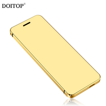 DOITOP Ultra thin Luxury Metal Body Bluetooth Dialer FM MP3 MP4 Music Video Player Smart Phone Dual SIM Card Mini Mobile Phone A(China)