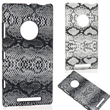 2015 Attractive Premium vivid spot snake skin Hard rigid PC Case for Nokia Lumia 830 Protector skin shell back cover(China)