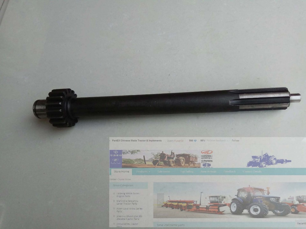 Hebei Xingtai XT180 tractor parts, the shaft, part number: 160.37.303-1<br>