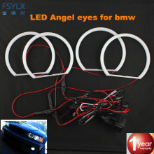 FSYLX SMD LED Angel Eyes For BMW E36 E38 E49 E46 Projector Angel Eye Halo Cotton Light Error Free White yellow Led Angel Eyes(China)