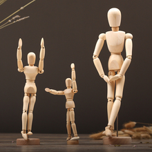 1pc Funny Wooden Puppet Doll Movable Painting Sketch Model Figure Wooden Crafts Manikin Mannequin Home Decor Ornament