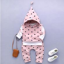 Retail!children's clothing 2017 new fashion spring autumn High quality cotton boys girls clothes jacket + pants set 3 pieces.