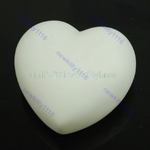 Cute Colorful Changing LED Heart Candle Party Night Light Lamp Xmas Decoration #L057# new hot(China)