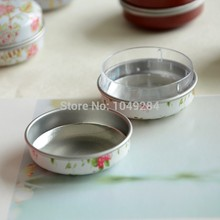 Wholesale 48pcs/lot grocery round tin boxes cute Sweet candy boxes jewelry storage case wedding favors(China)
