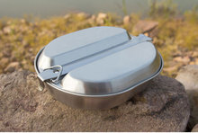 1 person Stainless Steel  Camping Cooking Set Outdoor Picnic canteen Military Canteen Lunch Box