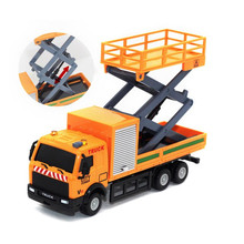 1:43 Racing Bicycle Shop Truck Toy Car Carrier Vehicle Garbage Truck Diecasts & Toy Vehicles Toys For children(China)