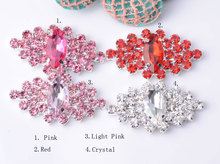 Free Shipping Flat Back Rhinestone Embellishment Decoration Buttons Used On Invitation 40mm 20pcs/lot Silver Color 4 Colors Mix