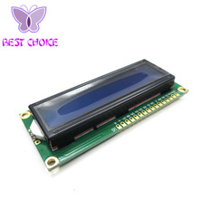 Free Shipping 10PCS LCD1602 1602 module Blue screen 16x2 Character LCD Display Module HD44780 Controller blue blacklight