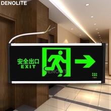 DENOLITE Maintained Wall Mounted Led Running Man Emergency Light Single Side Arrow Left/Right Led Exit Sign Lights(China)