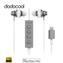 dodocool MFi Certified Hi-Res In-ear Stereo Earphone with for Lightning Connector Remote Mic Audio for iPhone 7 Plus SE iPad Air