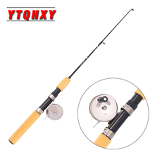 YTQHXY High Strength Ice Fishing Rod 55-75cm Telescopic Mini Shrimp Rod and Spinning Reel Fishing Tackle YE-441(China)