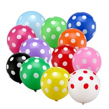 10pcs 12 Inch Dots Latex Balloons Globos Hotel Point Inflatable Birthday Party Balloon Wedding Decoration Kids Toys Ball Gifts(China)