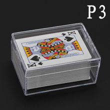Polystyrene Transparent Playing CARDS plastic box PS Storage Collections Container Case(only sale box, no have Playing CARDS)(China)