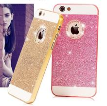 Luxury Cell Phone Case Bling Diamond Sparkle Glitter Protective Cover For iPhone 5S 6S 6 Plus(China)