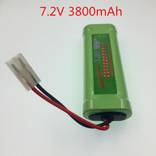 New rechargeable battery pack SC 7.2v 3800mAh NI-MH battery NiMH batterie battery Pack 7.2v for RC Car Truck Buggy boat(China)