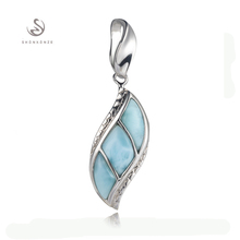 Pendants Larimar 925 sterling silver jewelry Best Sellers S--3803 Noble Generous Explosion models The new listing Rave reviews