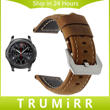 Italian Calf Genuine Leather Watch Band 22mm for Samsung Gear S3 Classic Frontier Handmade Strap 316L Steel Buckle Belt Bracelet