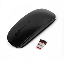 Ultra Thin 2.4GHz Wireless Optical Mouse Computer PC Mice with USB Adapter Mause for Macbook Mac Mouse Wireless