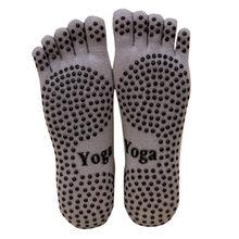 Men Socks Warm sports Gym Non Slip Massage Anti Slip Toe Socks Full Grip Funny Socks Men Heel Hosiery(China)