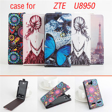 Painted case For Huawei U8950 Leather Case Up Down Open Cover Case For Huawei U8950/G600/C8950d/T8950/u9508 phone case(China)