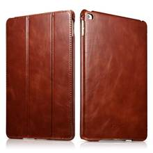 Ultrathin Waterproof Cow Genuine Leather Case for iPad Air2 Retro Business Real Leather Stand Smart Cover for iPad6 iPad Air2(China)